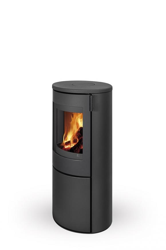 Rhea Flam Lamia 03 Cast Iron, Cast Iron Fireplace Wood Burning Stove